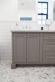 bathroom features gray shaker vanity: grey shaker style vanity with inset doors by rafterhouse