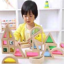 14Pcs/Set <b>Colorful</b> Wooden Blocks Toys For Children Creative ...