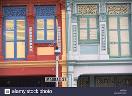 Decorative Windows For Houses Close Up Of Old Houses With Shuttered Windows And Pilasters With
