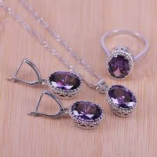 <b>Top Quality Exquisite</b> Purple Silver Color Women Wedding ...