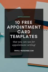 appointment card template 10 resources for small business appointment card template 10 resources for small business