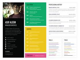 landscape one page resume template by asif aleem   dribbblelandscape one page resume template