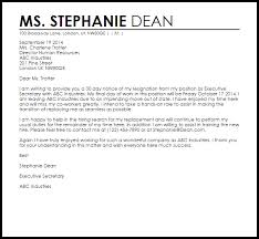 resignation letter with  day notice   livecareerresignation letter    day notice sample