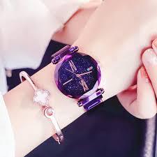 <b>Women</b> 360 Degree Rotation <b>Watches</b> Magnet <b>Starry Sky Watch</b> ...