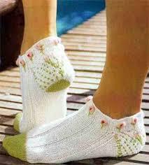 Вязание, Связанные крючком <b>носки</b> и Вязаные <b>носки</b>