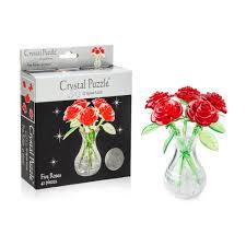 3D головоломка <b>Букет в вазе</b> Красный