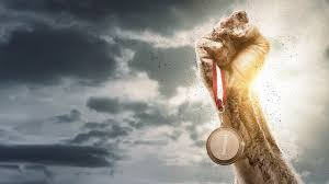 Image result for HOLDING THE GOLD MEDAL