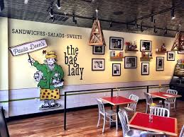 deen stores restaurants kitchen island: the bag lady at the island in pigeon forge
