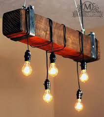 makarios decor rustic beam chandelier barn beam light chandelier barn board