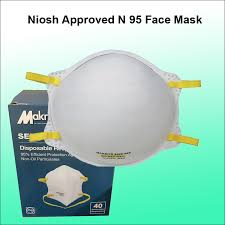 <b>Makrite Sekura N95</b> Face Mask. Model 9500 - NIOSHN95-001 ...