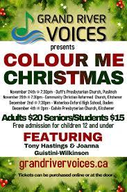colour me christmas concert series grand river voices colour me christmas concert series