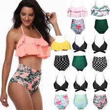 High Quality <b>Summer</b> Fashion <b>Women</b> Bikini Banana Flower Printed ...