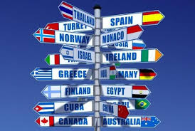 imagem de setas indicando paises