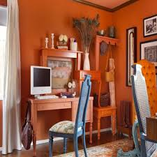 the right colors of your interior walls inmyinterior burnt red home office