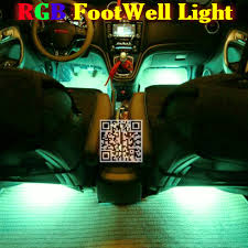 24g wireless control rgb color neon glow interior underdash foot accent ambient light for nissan accent ambient lighting