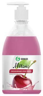 """<b>Жидкое крем-мыло Grass</b> """"<b>Milana</b>. Спелая черешня"""", с дозатором ..."""