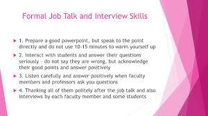 postgraduate students and job search strategies sharing you formal job talk and interview skills 61557 1