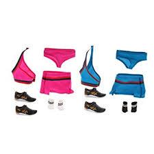 MonkeyJack <b>1/6 Female Clothing</b> Red+Blue Cheerleaders Tops ...