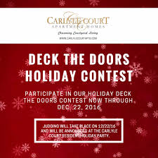 carlyle court blog we can t wait to see everyone s holiday spirit if you have any questions or concerns please stop by the carlyle court apartment leasing office monday
