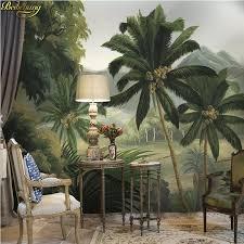 <b>beibehang</b> Custom Palm tree forest river tropical rainforest <b>medieval</b> ...