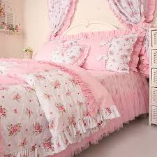 free shipping princess lace ruffle floral bedding setskids soft bow duvet cover set bedroom queen sets kids twin