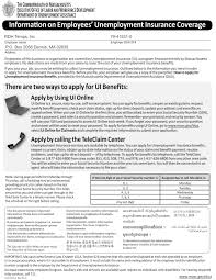 notices massachusetts information on employees unemployment insurance coverage