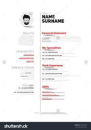 mini st cv resume template simple design stock vector 337426988 mini st cv resume template simple design vector