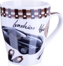 """<b>Кружка Loraine</b> """"<b>Автомобиль</b>"""", цвет: белый, коричневый, <b>340</b> мл ..."""