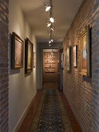 wine gallery interior brick wall antique oushak rug best lighting for hallways