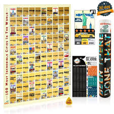 100 Incredible Cities Scratch <b>Wall Art Poster</b> | BEEN THERE DONE ...