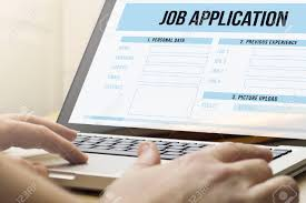 application form stock photos images royalty application application form job search concept man using a laptop job application on the