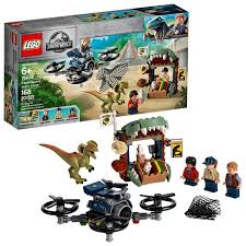 LEGO <b>Jurassic World</b> Dilophosaurus On The Loose 75934 Plane ...