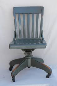 antique oak office chair early 1900s vintage desk chair w old industrial grey paint antique wood office chair