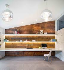 create a home office gorgeously lit shelves and reclaimed wood wall create a stunning midcentury modern cafe lighting 16400 natural linen