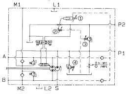 hp pump with automotive and pressure compensator controlhp pump hydraulic diagram
