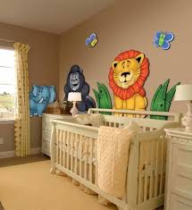 create a jungle theme wall decor of removable wall murals for nursery bedroom playroom zoo animals wall decals panda gorilla lion elephant bee baby nursery cool bee animal