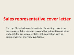 sales representative cover letter pdf sales rep cover letter