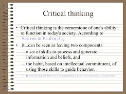Online Critical Thinking Basic Concepts Test Test Partnership