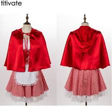 Best Seller TITIVATE New Little Red Riding Sexy <b>Cloak Halloween</b> ...