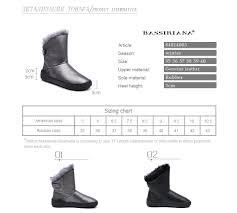 <b>BASSIRIANA</b> 2018 <b>winter new</b> natural leather ladies <b>snow</b> boots ...