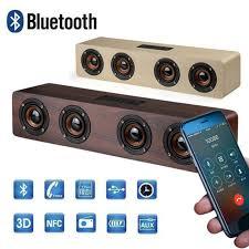 <b>20W Wooden</b> Wireless Bluetooth Speaker Bass <b>TV</b> Soundbar with ...