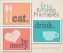 printable kitchen signs