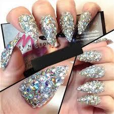 1 box nail art crystal 3d rhinestone strass beads charms acrylic decoration glitter rhinestones zp 35 50