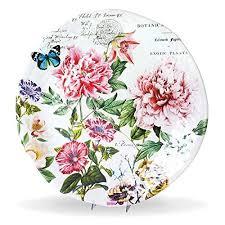 <b>Michel Design Works</b> Melamine Large Round Serving Platter, <b>Peony</b> ...