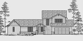 Vacation House Plans  Two Story House Plans  Bedroom House PlanHouse front color elevation view for Vacation house plans  two story house plans