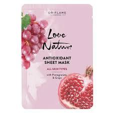 Антиоксидантная <b>тканевая маска</b> с гранатом и виноградом Love ...