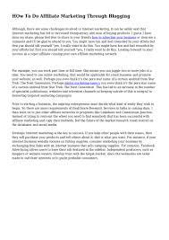 how to do affiliate marketing through blogging