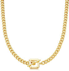 Gold T Bar Chain Necklace Simple Dainty 14K Gold ... - Amazon.com