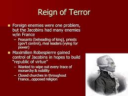 Image result for french jacobins reign of terror