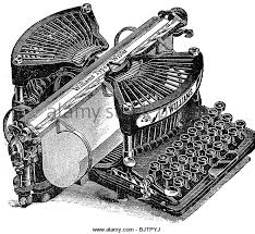 office office equipment williams typewriter wood engraving late 19th century historic century office equipment